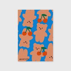 Dot cherry big bear-blue(엽서)