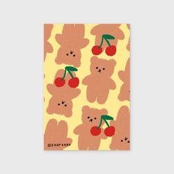 Dot cherry big bear-yellow(엽서)