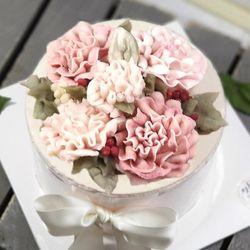어버이날 스승의날 선물 핑크카네이션 떡케이크(3호)
