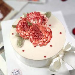어버이날 스승의날선물 레드닷 카네이션떡케이크(3호)