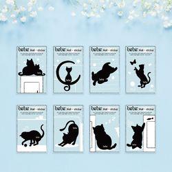 우키우키 고양이 인테리어벽지 포인트 스티커 8종