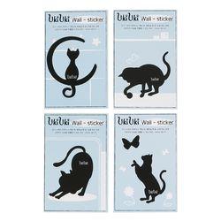우키우키 고양이 벽지 포인트 스티커 날씬이 4종 SET