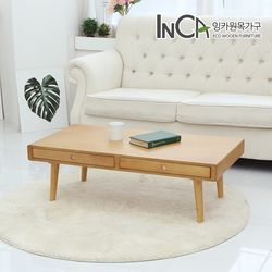 프로브 북유럽 소나무원목 서랍형 소파테이블 1100 2컬러