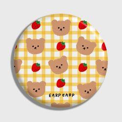 Dot strawberry check-yellow(거울)
