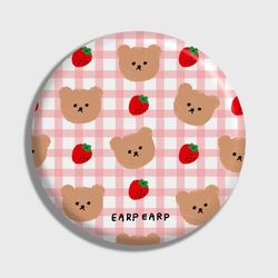 Dot strawberry check-pink(거울)