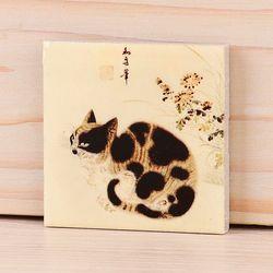 [명화 타일 마그넷] 변상벽-고양이