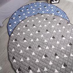 여름용 심포니 원형 거실 카페트 러그 지름 145 cm