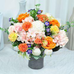 싱그러운오렌지 산소꽃다발 성묘꽃 산소꽃 납골당리스