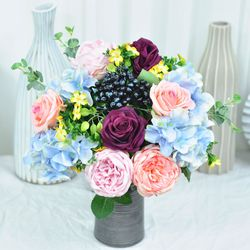 라이트블루 산소꽃다발 성묘 추모 꽃바구니