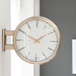 샴페인골드와 로즈골드의 조화가돋보이는 모던양면시계