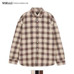 도톰 체크 셔츠 / WHYC94T01M