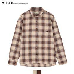도톰 자수 체크 셔츠 / WHYC94T12F
