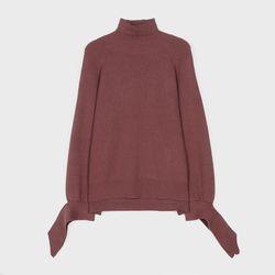 소매리본 터틀넥 스웨터 MIWKAA137B