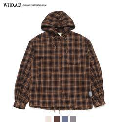 [후아유] 아방 체크 후드 셔츠 / WHYA94995F