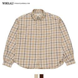 아방 루즈핏 체크 셔츠 / WHYC94903F