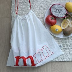 color bag [white red]