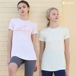 흡한속건 에어쿨 Y존 힙커버 HRT44 레아 롱 티셔츠