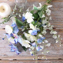 블루 화이트 꽃다발