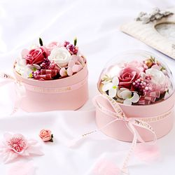 솝 플라워돔박스 비누 꽃상자