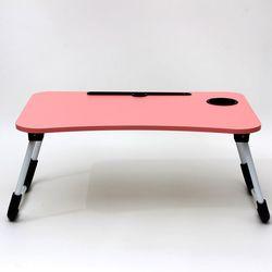 접이식 좌식 컴퓨터 노트북 공부 테이블 책상 좌탁 슬롯 컵홀더