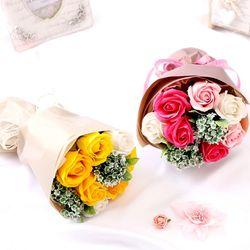 로즈비누꽃다발(완제품)솝플라워선물꽃장미비누꽃