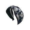paisley knot hairband (navy)
