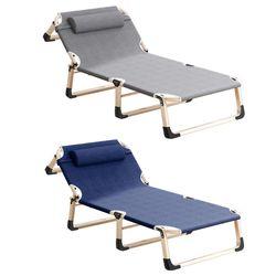 1인용 접이식침대 캠핑침대 간이침대 각도조절가능
