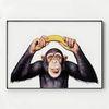 대형 메탈 동물 그림 아이방 액자 침팬지는 바나나를 좋아해 2