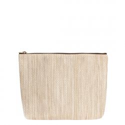 [10061] V1 ZIP CLUTCH BAG-SNOW GOLD