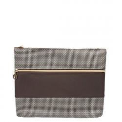[10005] DB ZIP CLUTCH BAG-GOLD SILVER