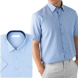 지지미 블루 반팔 와이셔츠RFR6511