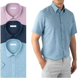 린넨스타일 컬러풀 반팔 와이셔츠 3종RFV21461TO3