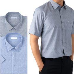 스타패턴 레귤러 반팔 와이셔츠 2종RFV2141920