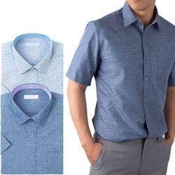 카치온 도트패턴 반팔 와이셔츠 2종RFV214112