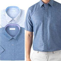 카치온 스타일 솔리드 반팔 와이셔츠 2종RFV2140910