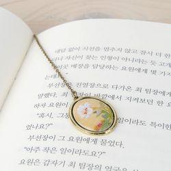 BooKiss한국화책갈피 신명연 - 백합
