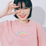 RAINBOW LOGO T-SHIRT SOFTPINK