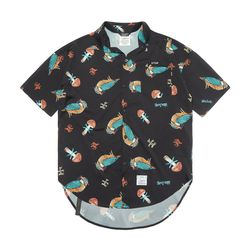 BIRD OVERSIZED SHORT SLEEVES SHIRTS PATTERN