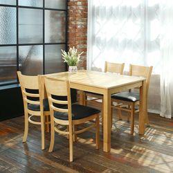 우디 원목식탁 식탁테이블 4인 캐빈 우드식탁