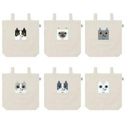 우키우키 고양이 캐릭터 에코백 캔버스백 6종