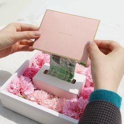 어버이날 플라워 반전 용돈박스 2종+추가구성품+메세지카드