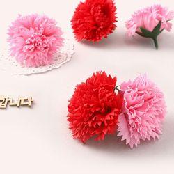 카네이션비누꽃낱개50개(1박스) diy 꽃공예재료미니