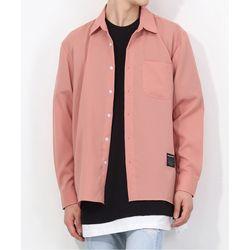 오픈 스무디 셔츠 핑크