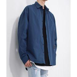 오픈 크리티컬 셔츠 블루