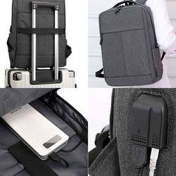 외부 USB 충전 비즈니스 백팩 노트북 태블릿 패션 가방 데일리백
