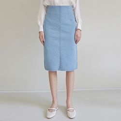 HIGH WAIST H MIDI-SKT [DENIM]