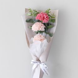 핑크 카네이션 3P프릴 꽃다발