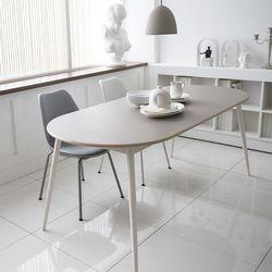 레이어스 타원 테이블 (6인용 1900x800)-자작나무