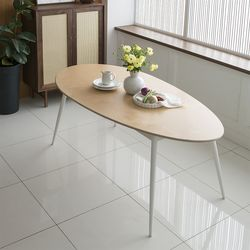 레이어스 에그 다이닝 테이블 (4인용 1800x900)- 자작나무