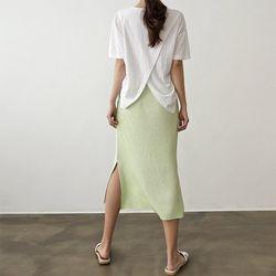 Linen Cotton Back Slit Tee